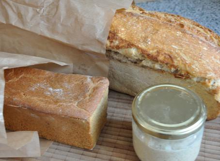 The simplest einkorn sourdough bread