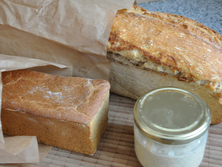 The simplest einkorn sourdough bread