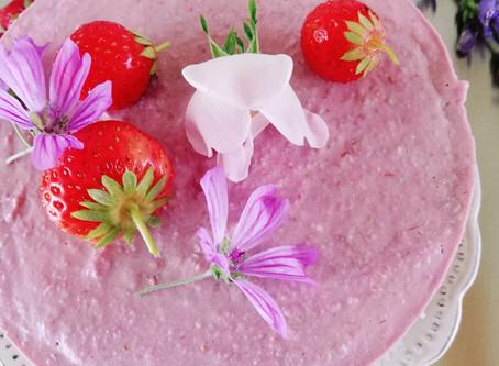 Raw Strawberry - Raspberry Cake