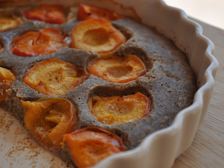 Buckwheat Sourdough Apricot Pie (gluten-free)