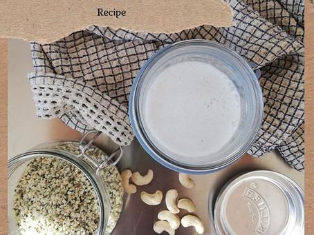 Homemade Cashew Hemp Milk
