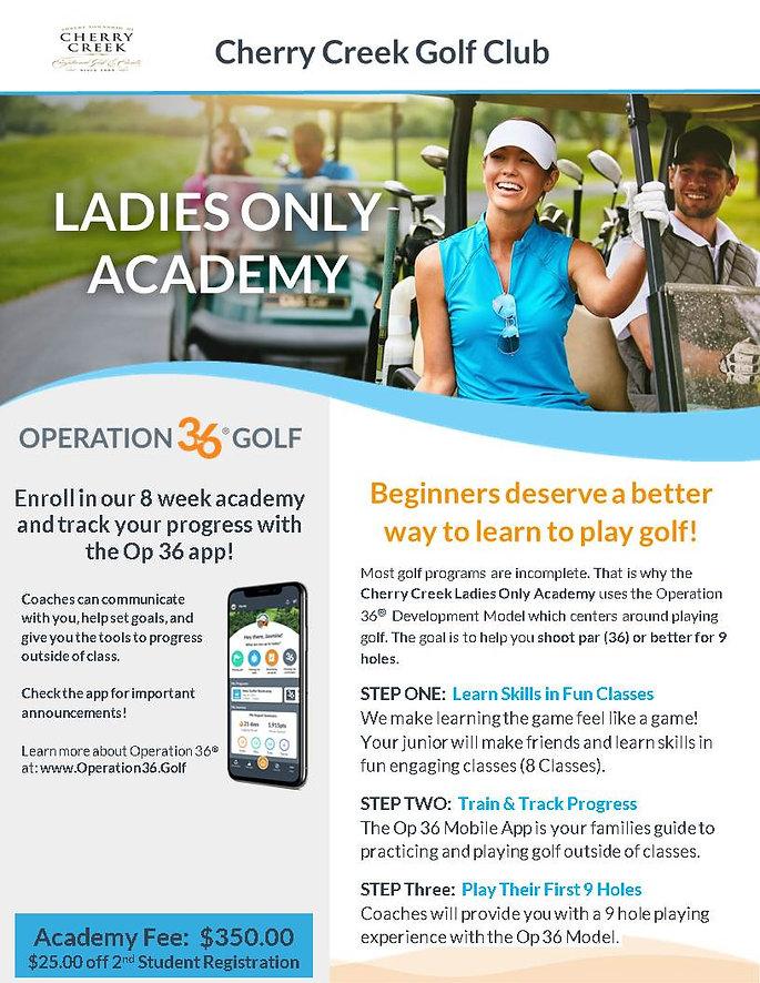 Ladies Academy Program Flier 2020 for We
