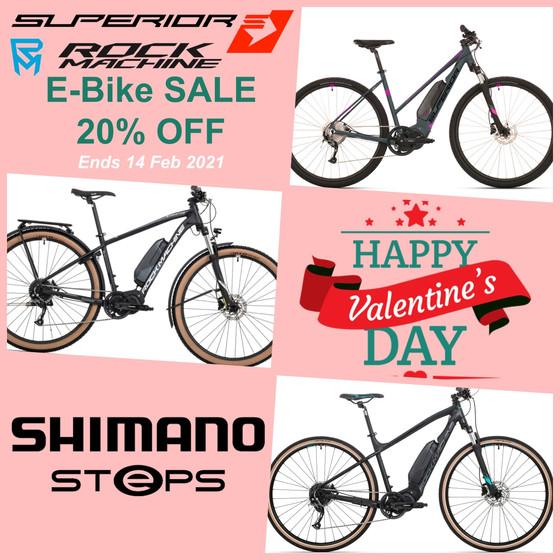 Valentine's Special E-Bike Sale - 20% OFF