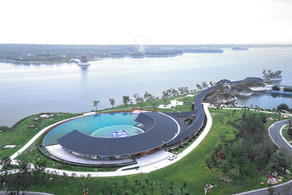 天颐湖如意长廊泳池