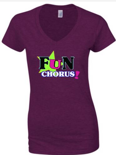 Ladies fitted Fun Chorus t-shirt