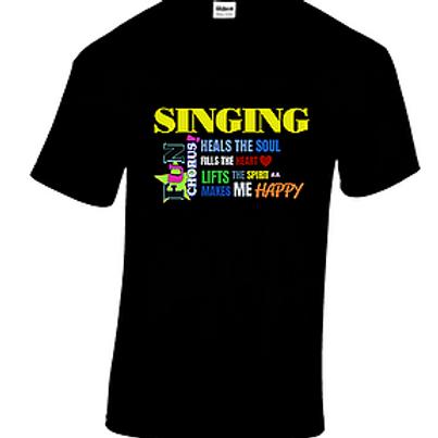 Fun Chorus 'Singing makes me happy' t-shirt