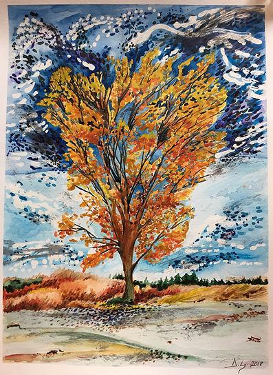 A Special Tree - Water Colour by Duru Gu