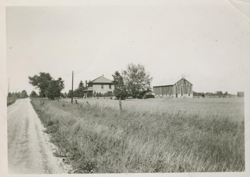 Old-Timey Photo of First Barn