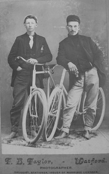 Sassy Gentlemen with Bikes