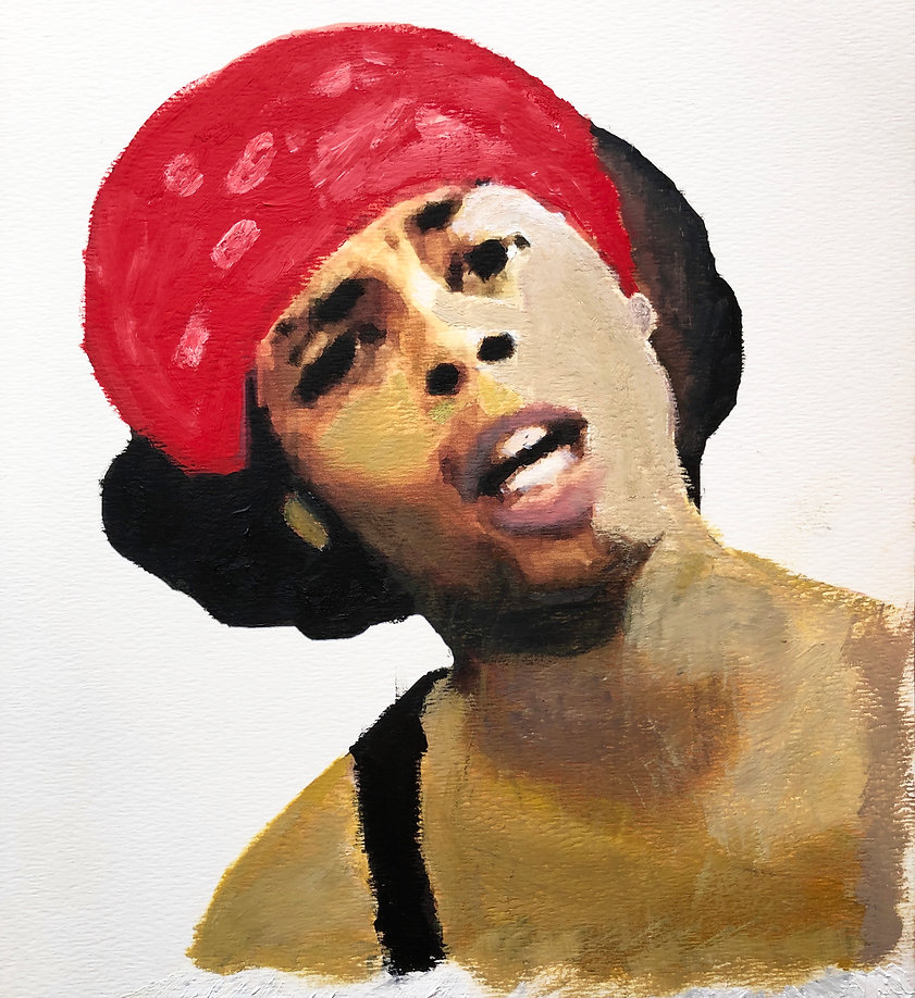 Bedroom Intruder - Antoine Dodson Oil on