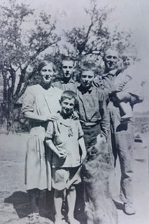 Family Farm Photo Featuring Dog