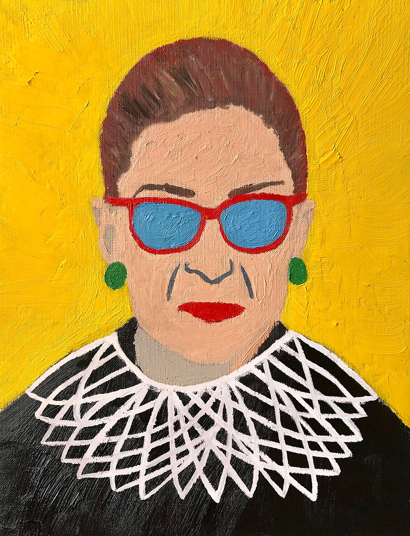 Ruth Bader Ginsburg - Oil on Canvas Pape