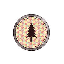 Patterned Tree Badge