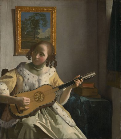 Guitar Player,1672-Johannes Vermeer