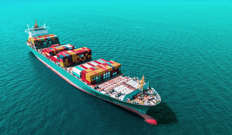 Container ship in export and import busi