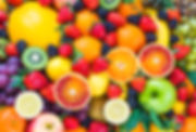 Fresh fruits.Assorted fruits colorful ba