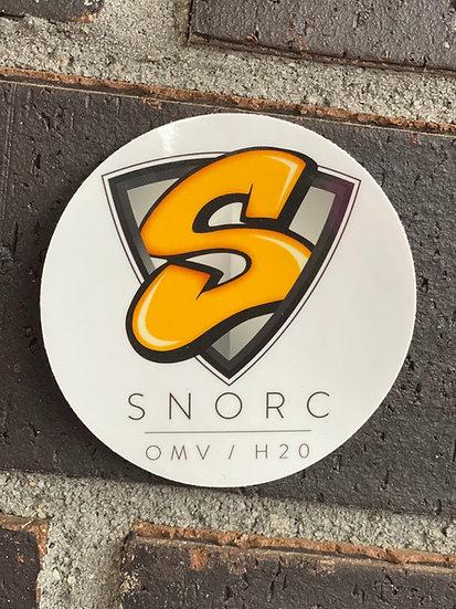 SNORC Shield on White - Sticker