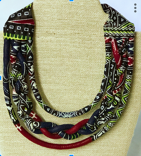 Luna Dashiki  Blue Chocker