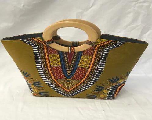 Hunter Green Dashiki handbag