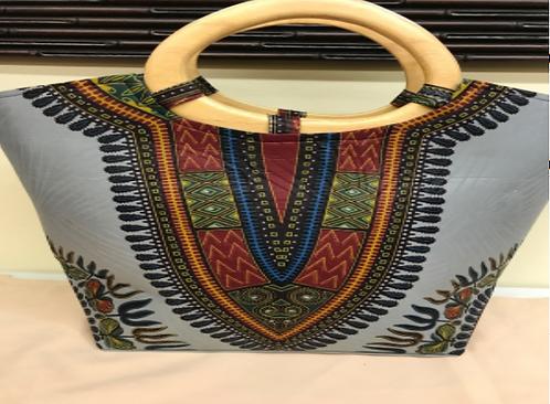 Grey Dashiki handbag
