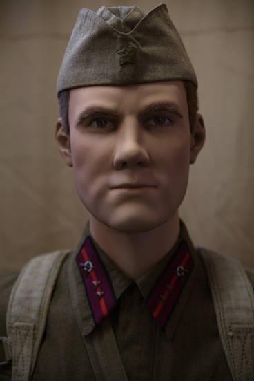 Сержант-сверхсрочник РККа в полном походном снаряжении (1939г)