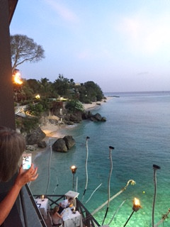 The view from the Cliff Restaurant, Barbados