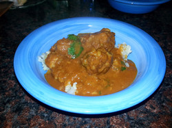 Lamb curry plated