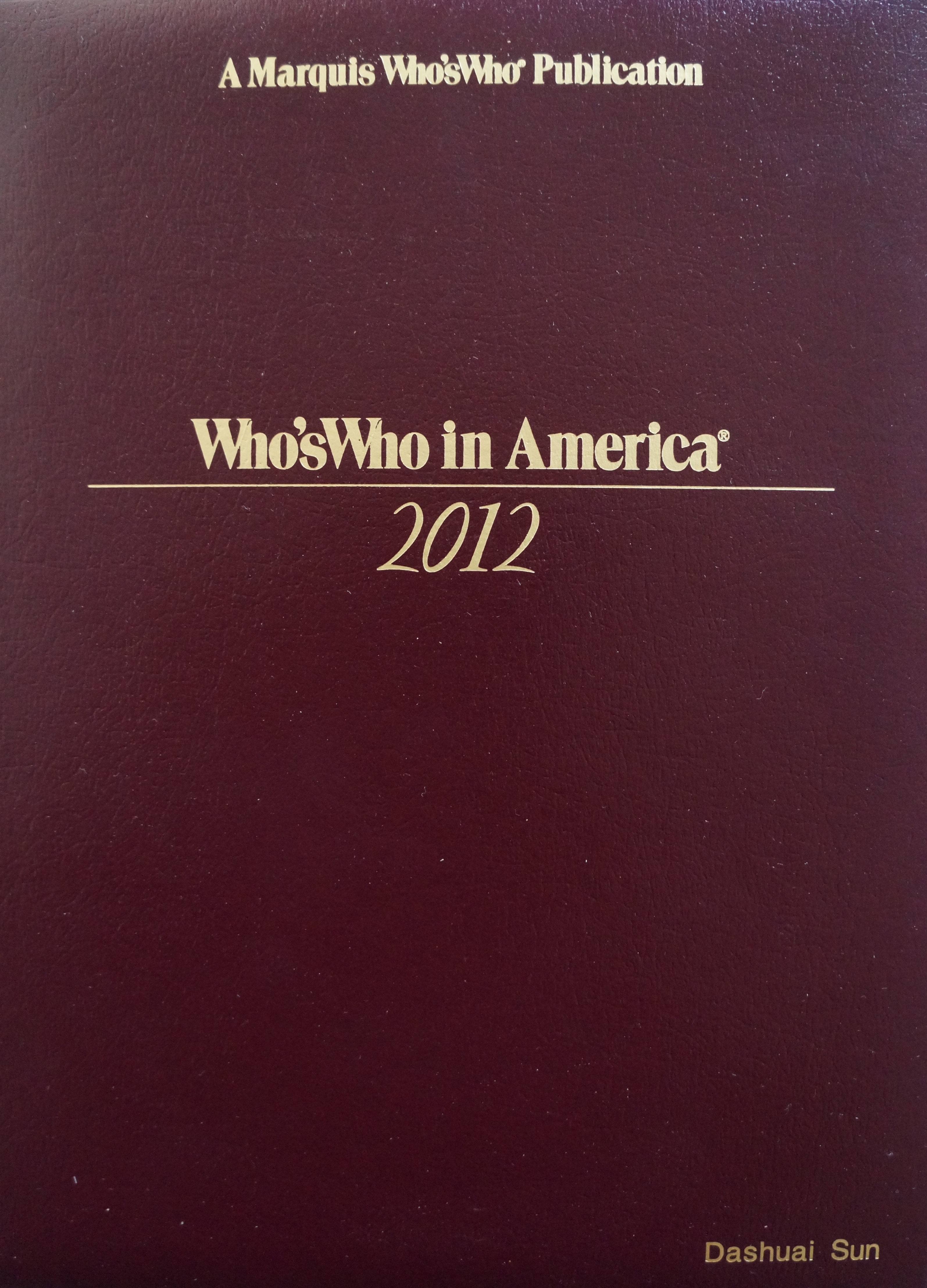 Who'sWho in America 2012