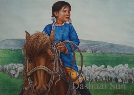 Shepherd Child with the Lamb III
