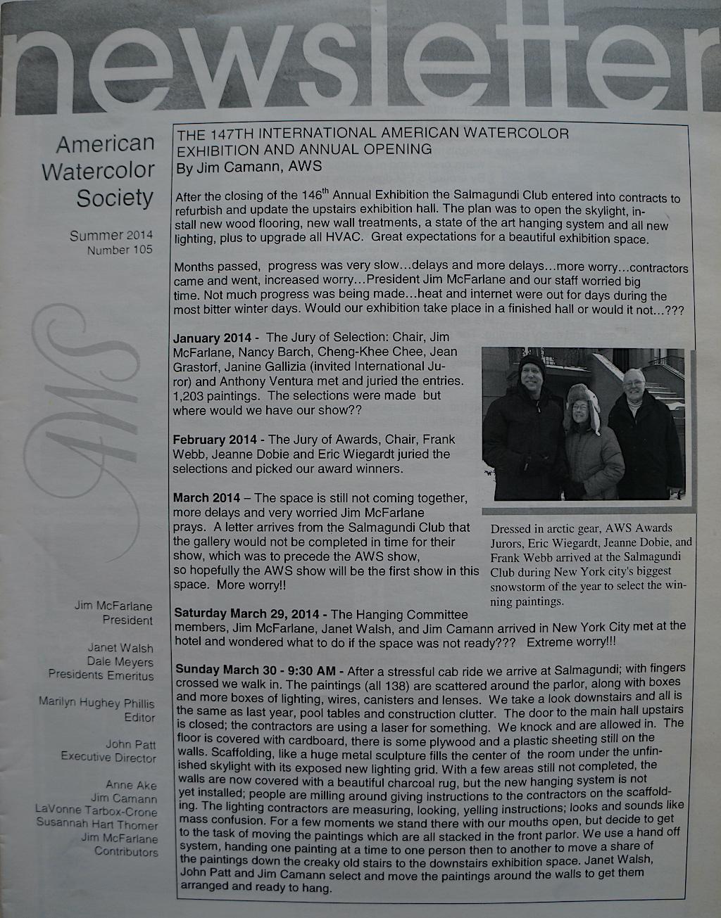 AWS Newsletter Summer 2014-01