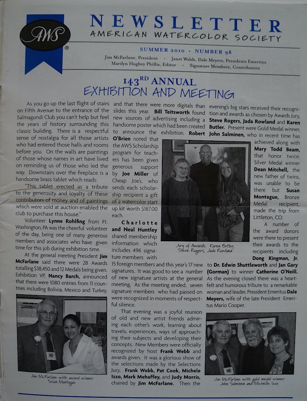 AWS Newsletter Summer 2010-01