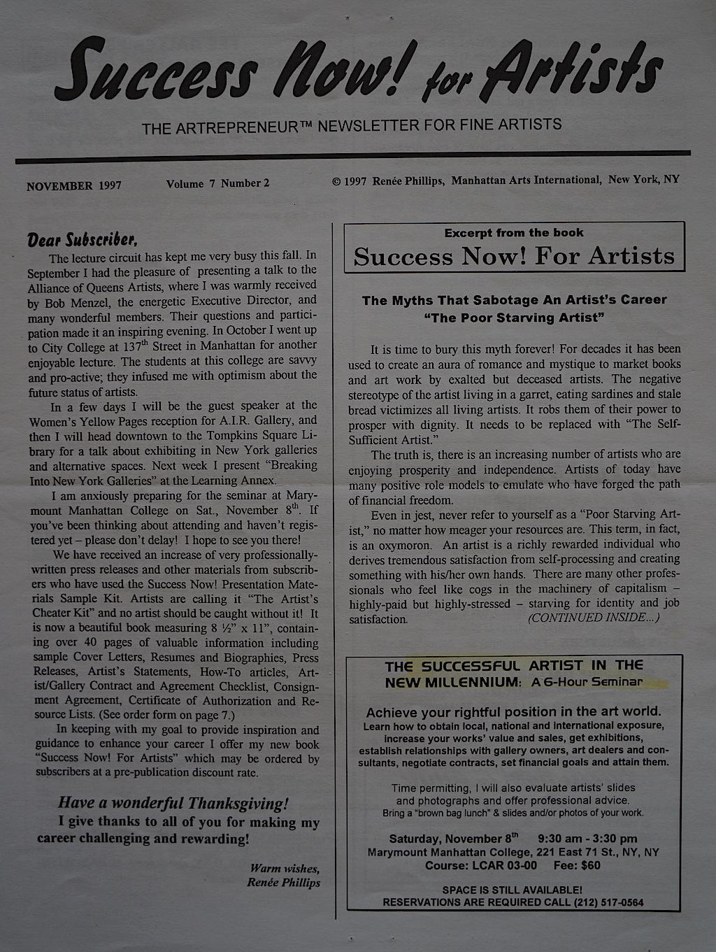 Success Now Nov. 1997