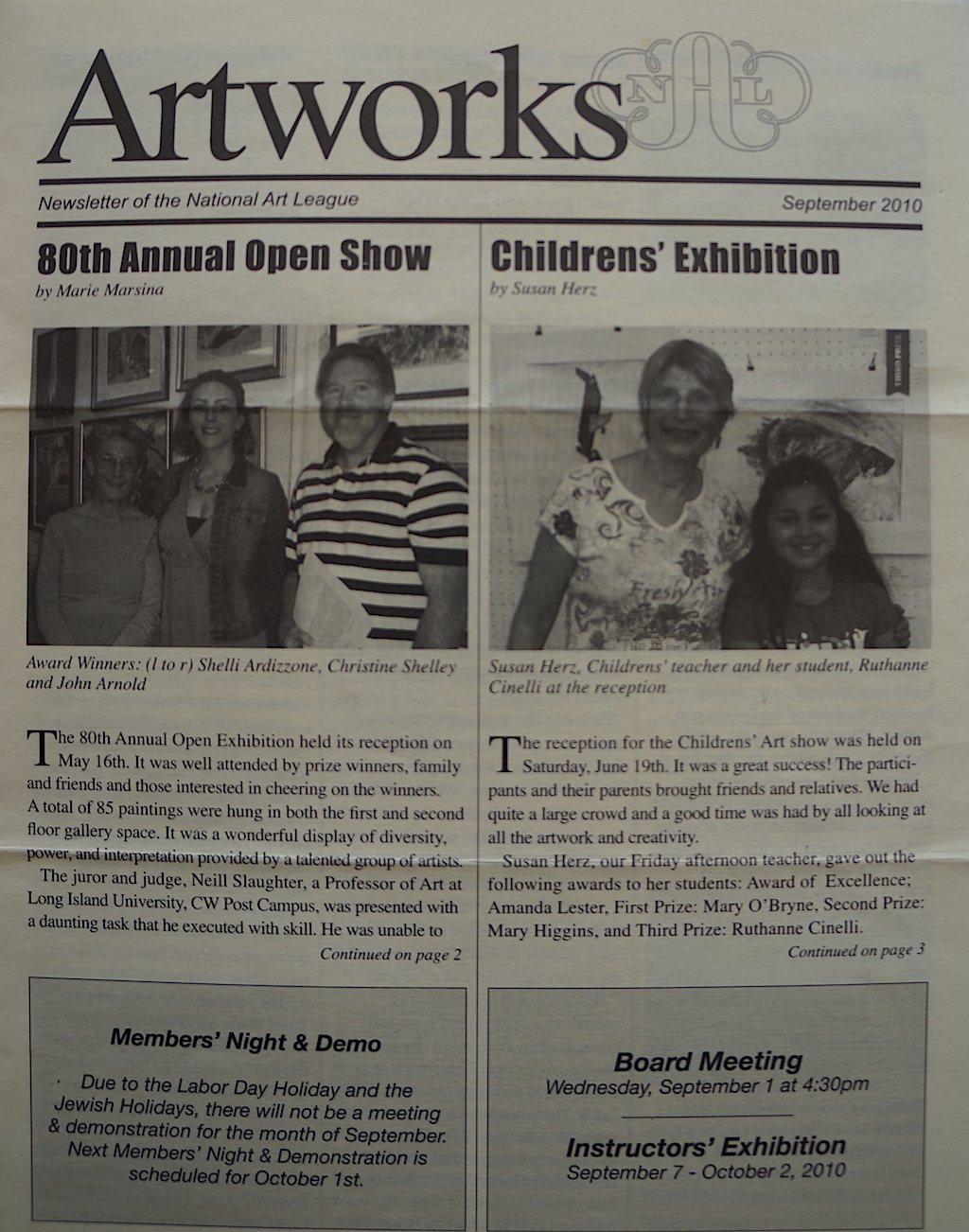 NAL Newsletter Sep. 2010