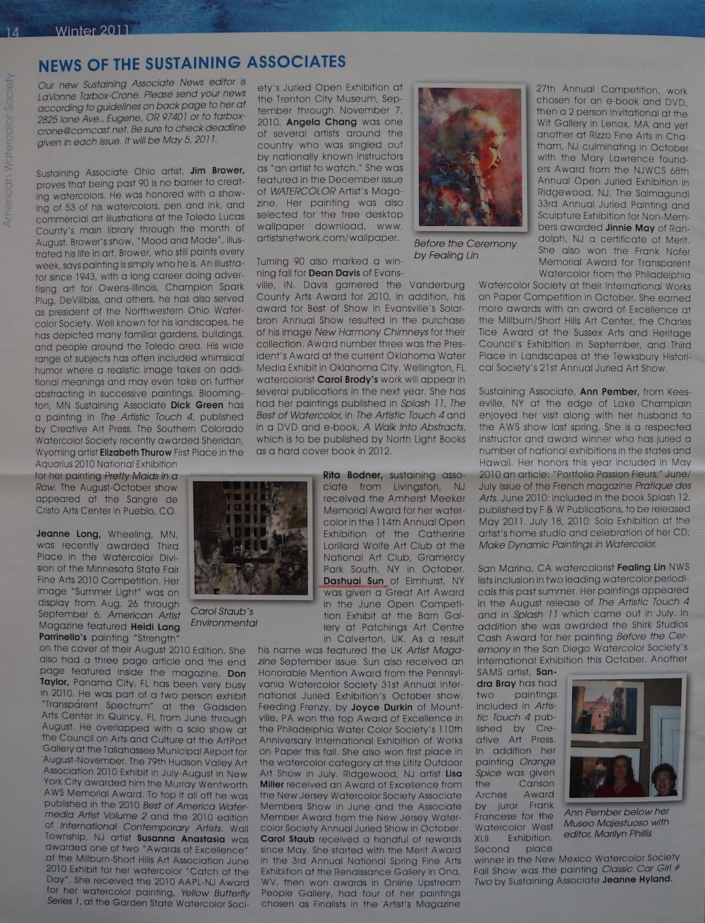 AWS Newsletter Winter 2011-02