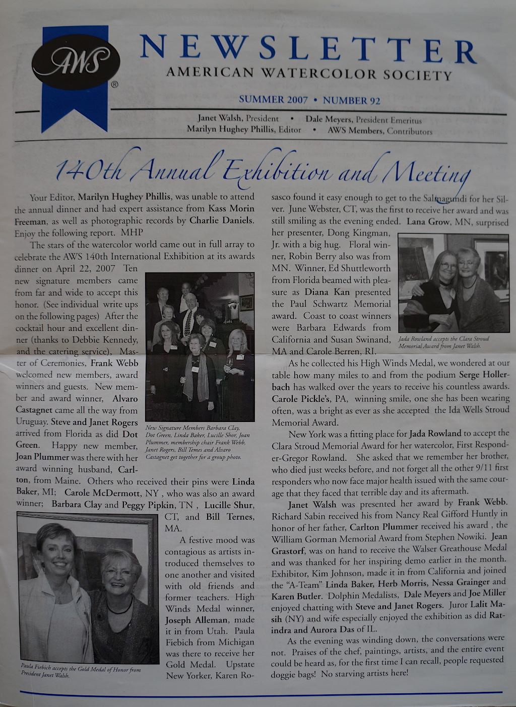 AWS Newsletter Summer 2007-01