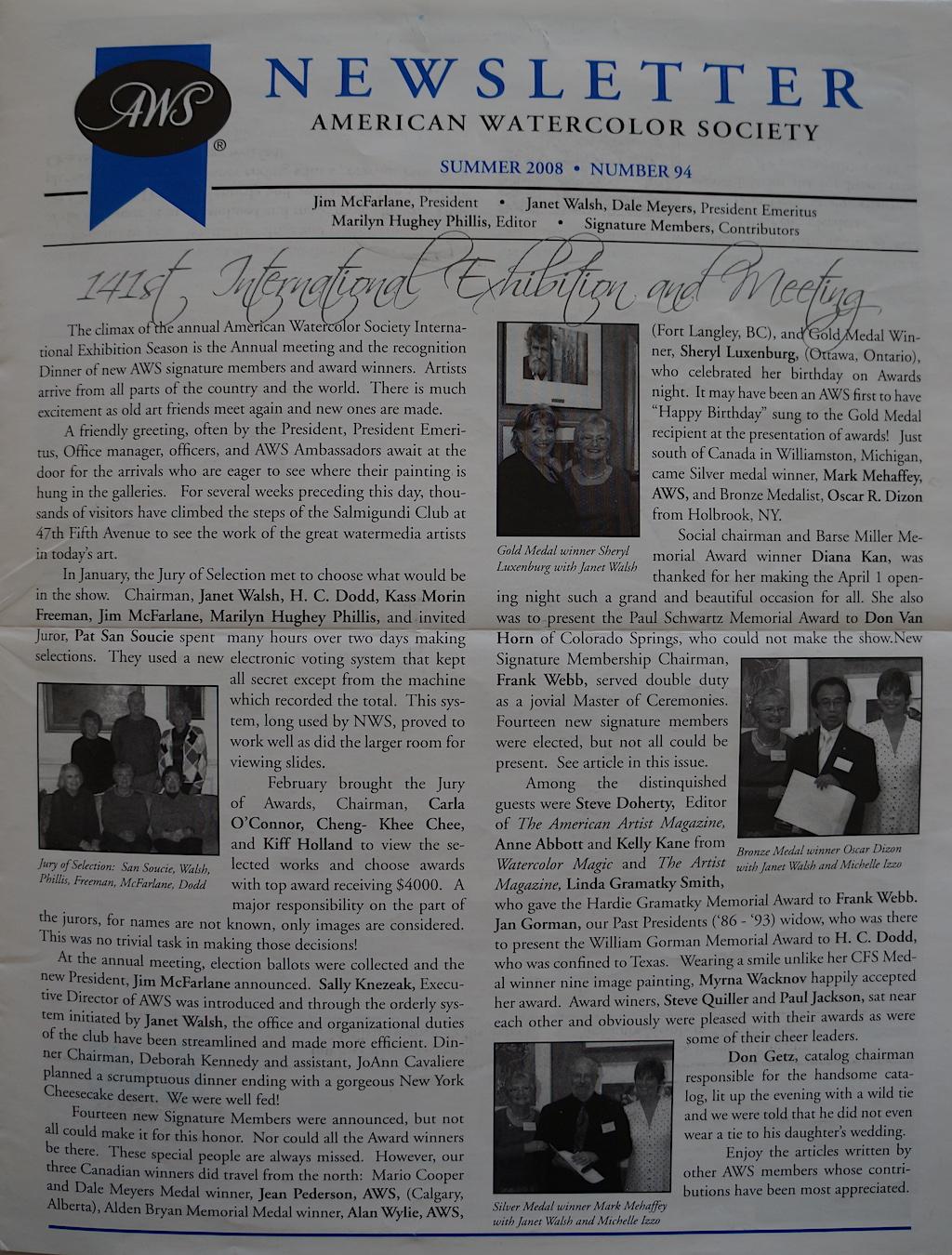 AWS Newsletter Summer 2008-01