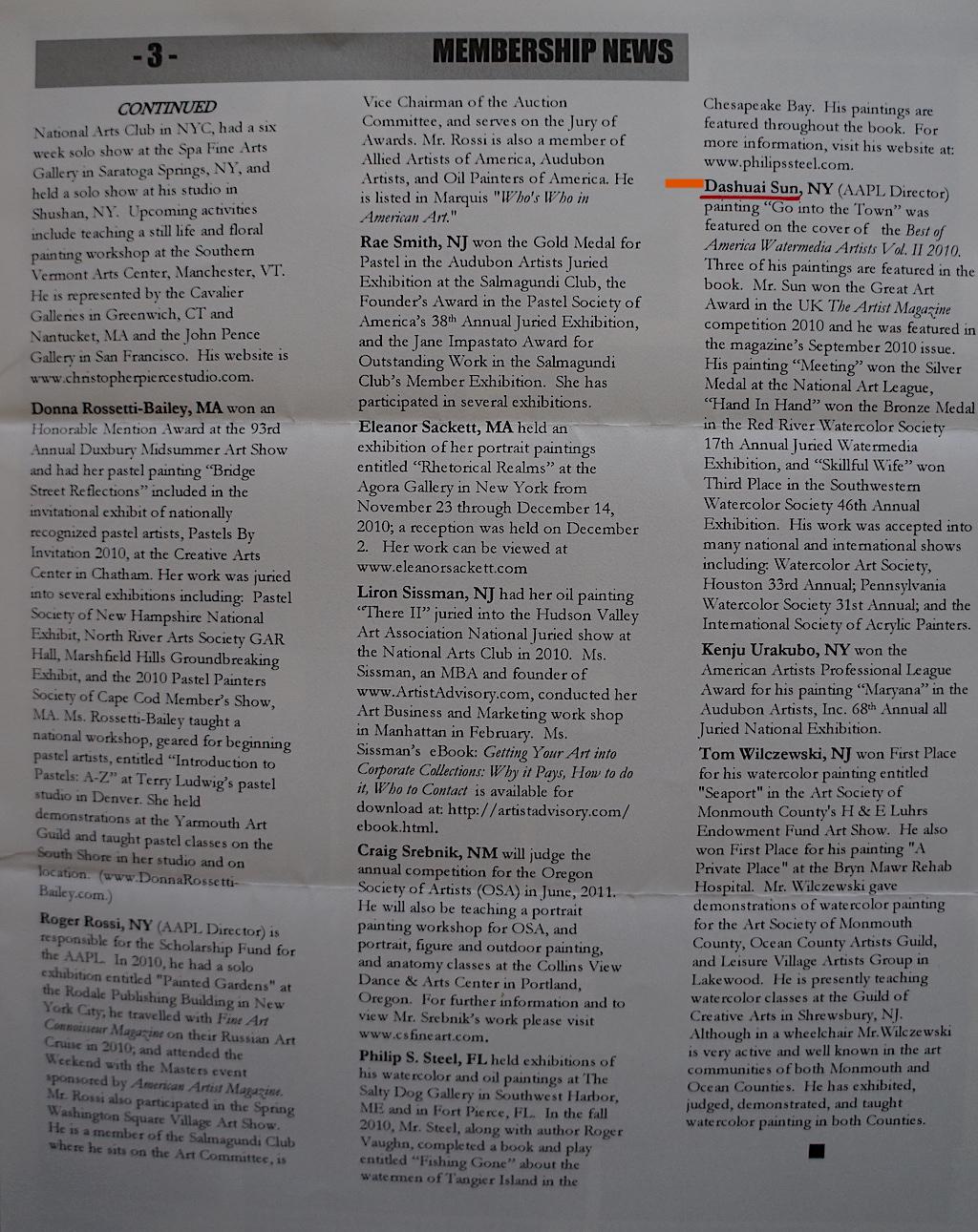 AAPL Newsletter Final Quarter 2011-02