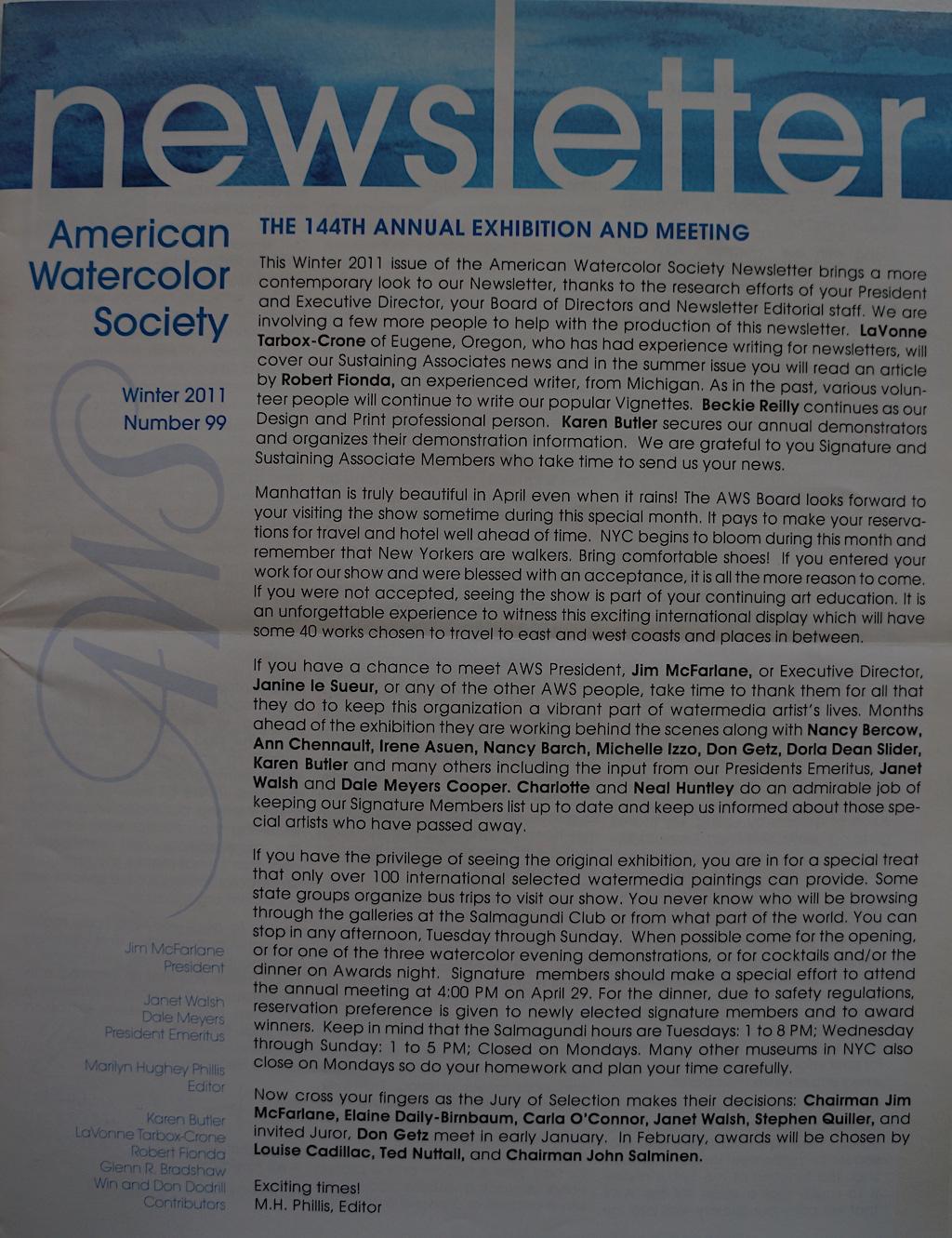AWS Newsletter Winter 2011-01