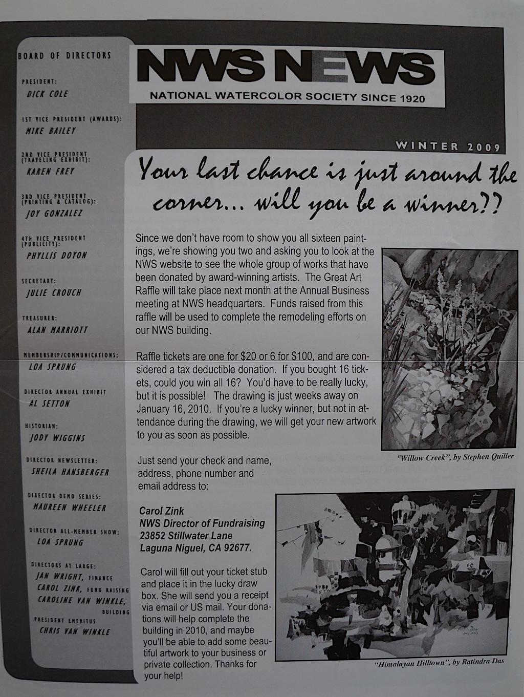 NWS News Winter  2009-01