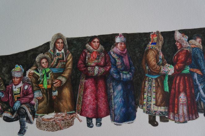 Auspicious Mongolia II (detail)