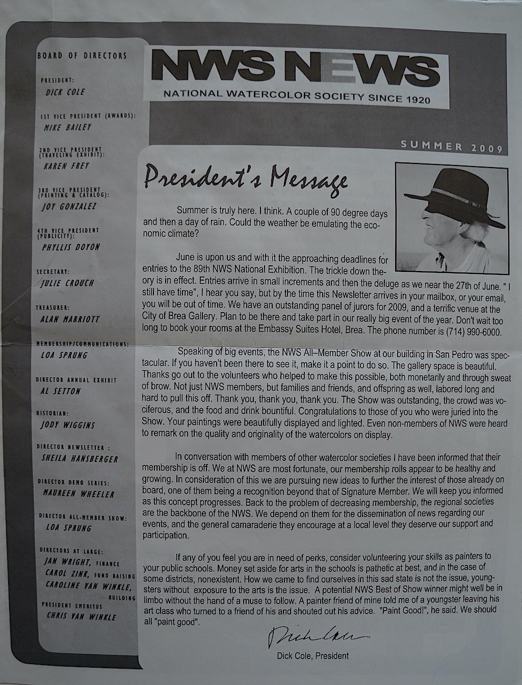 NWS News Summer 2009-01
