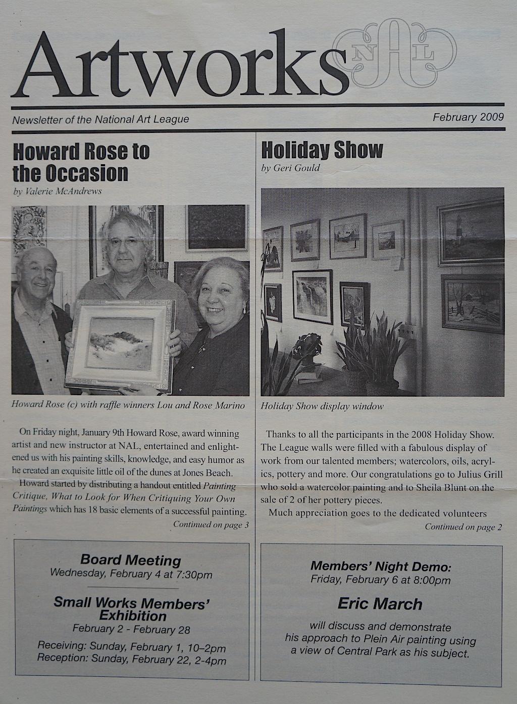 NAL Newsletter  Feb. 2009