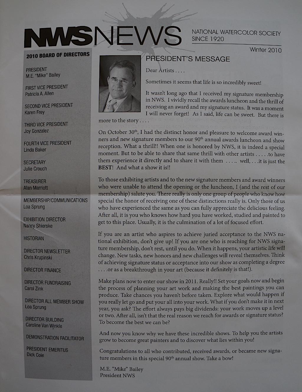 NWS News Winter 2010-01