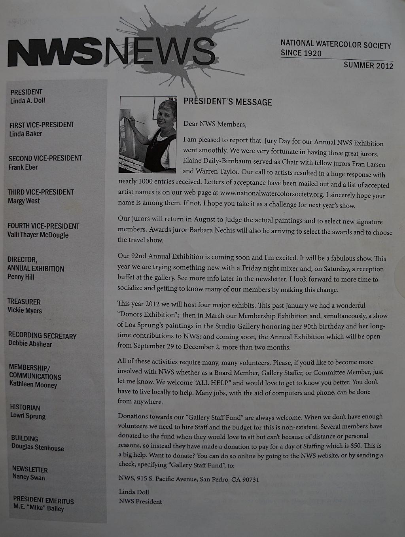 NWS News Summer 2012-01