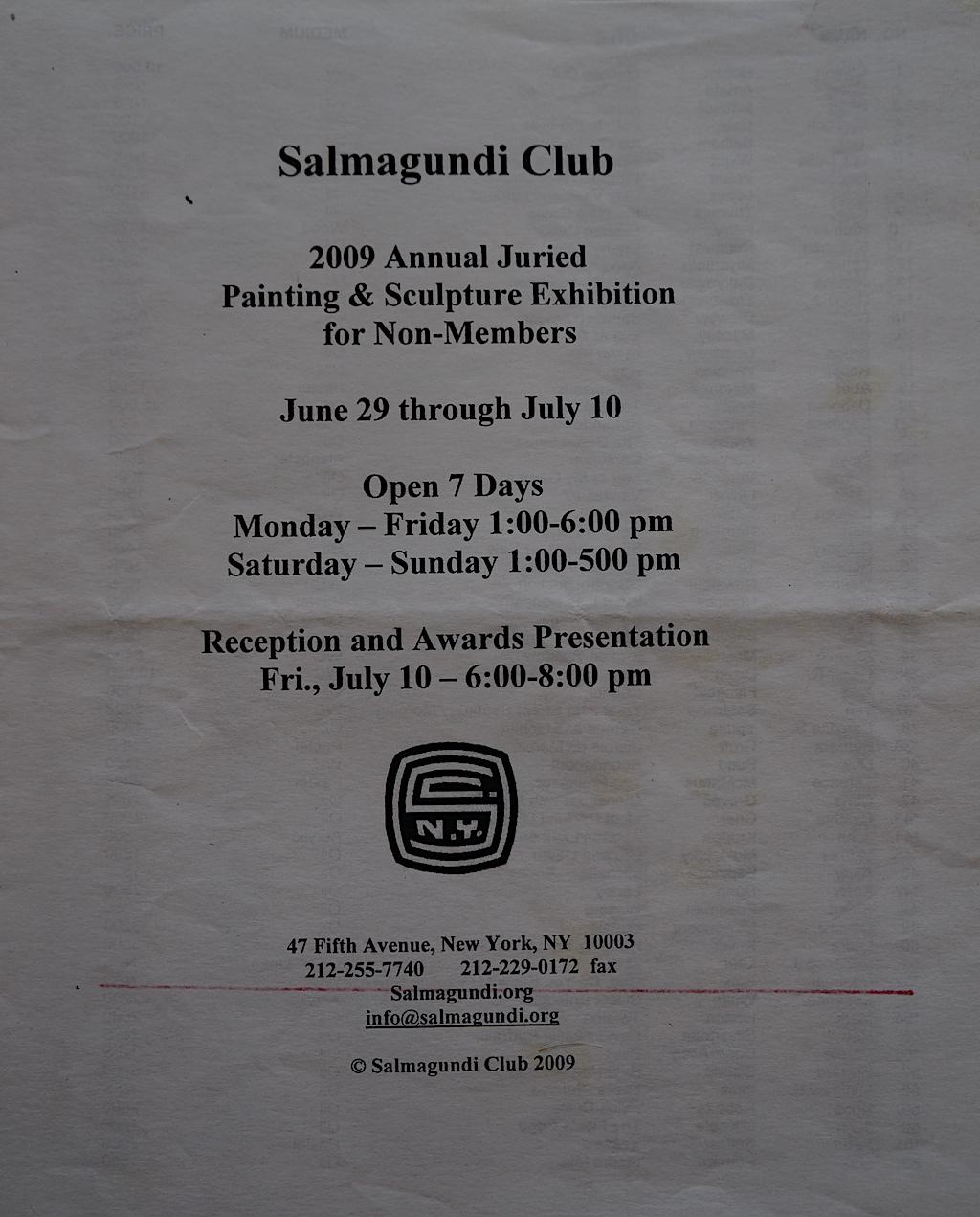 Salmagundi Club 2009 Annual-01