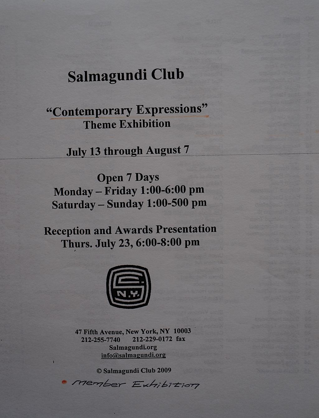 Salmagundi Club Member E-01