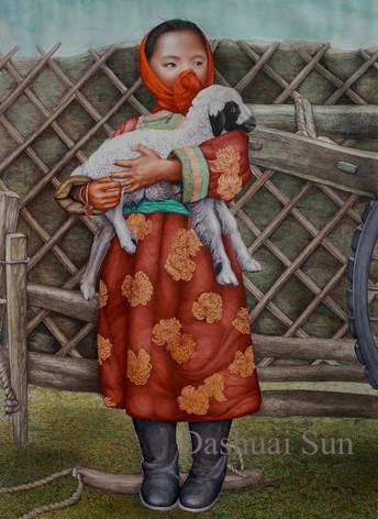 Shepherd Child with the Lamb I