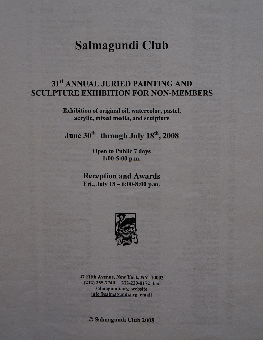 Salmagundi Club 2008 Annual-01