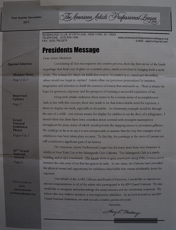 AAPL Newsletter Final Quarter 2011-01