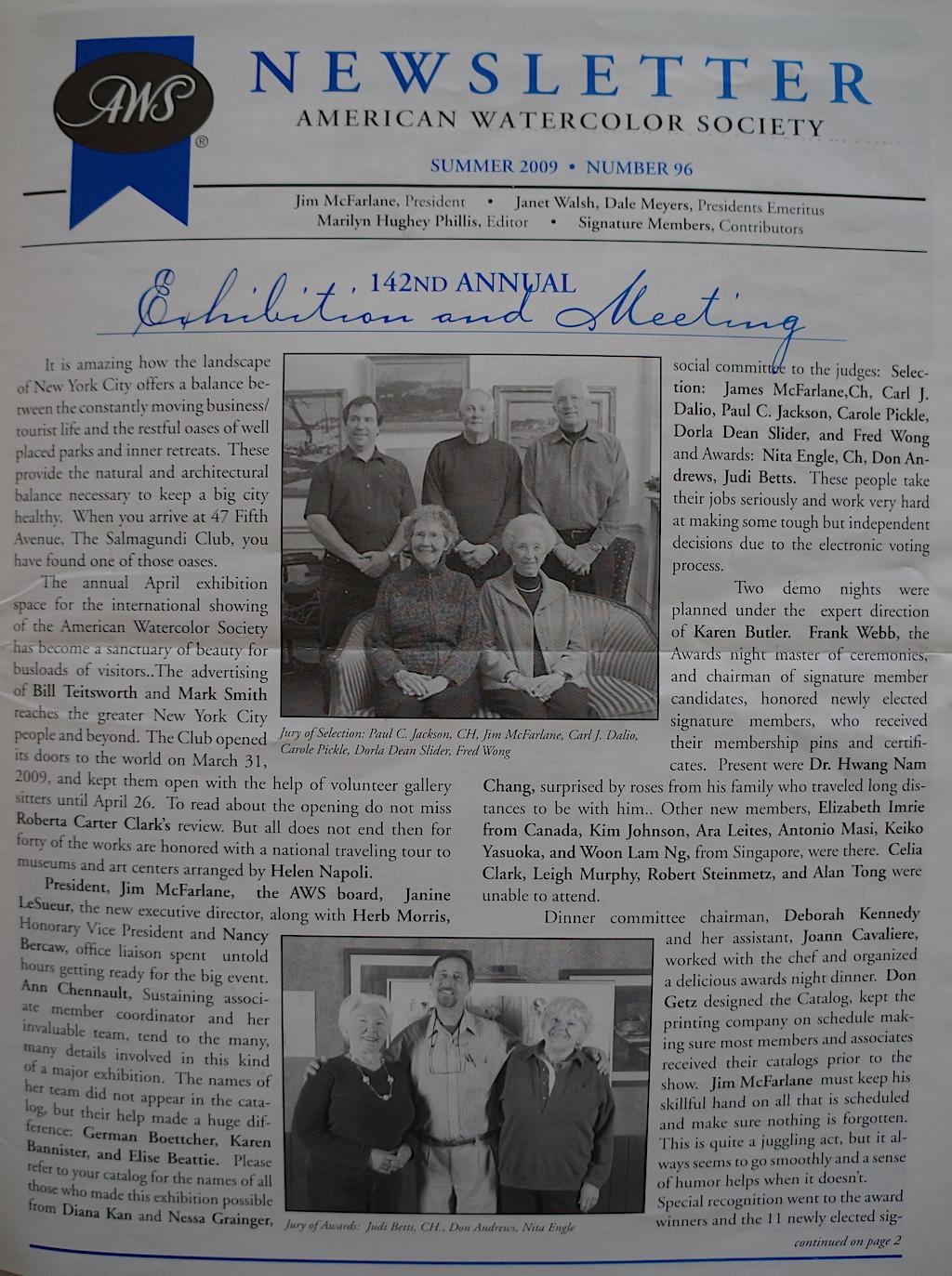 AWS Newsletter Summer 2009-01